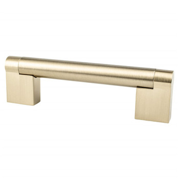 "Berenson, Contemporary Advantage Three, 3 3/4"" (96mm) Straight Pull, Champagne"