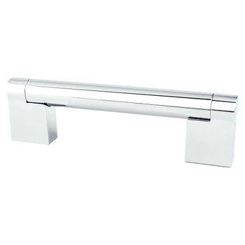 "Berenson, Contemporary Advantage Three, 3 3/4"" (96mm) Straight Pull, Polished Chrome"
