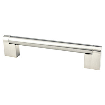 "Berenson, Contemporary Advantage Three, 5 1/16"" (128mm) Straight Pull, Brushed Nickel"
