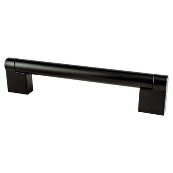"Berenson, Contemporary Advantage Three, 5 1/16"" (128mm) Straight Pull, Matte Black"