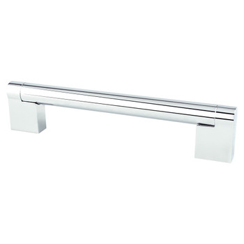 "Berenson, Contemporary Advantage Three, 5 1/16"" (128mm) Straight Pull, Polished Chrome"