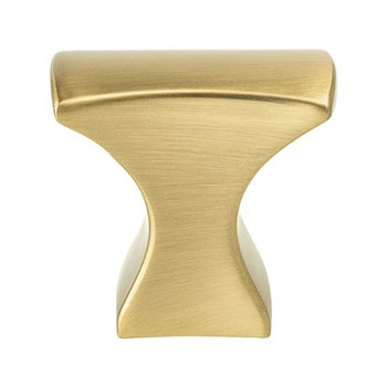 "Berenson, Aspire, 1 1/4"" Length Rectangle Knob, Modern Brushed Gold"