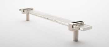 """Sietto, Adjustable, Straight Pull, 9"""" Overall Length, Clear with Polished Nickel Base, angle 2"""
