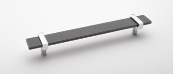 "Sietto, Adjustable, Straight Pull, 9"" Overall Length, Slate Grey with Polished Chrome Base"