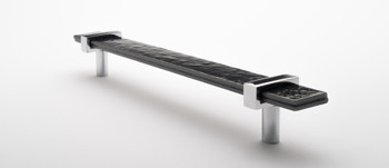 "Sietto, Adjustable, Straight Pull, 9"" Overall Length, Slate Grey with Polished Chrome Base, angle 2"