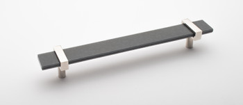 """Sietto, Adjustable, Straight Pull, 9"""" Overall Length, Slate Grey with Polished Nickel Base"""