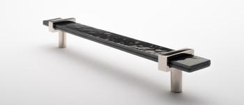 "Sietto, Adjustable, Straight Pull, 9"" Overall Length, Slate Grey with Polished Nickel Base, angle 2"