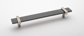 """Sietto, Adjustable, Straight Pull, 9"""" Overall Length, Slate Grey with Satin Nickel Base"""