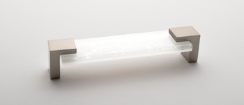 """Sietto, Affinity, 6"""" Straight Pull, White with Satin Nickel Base"""