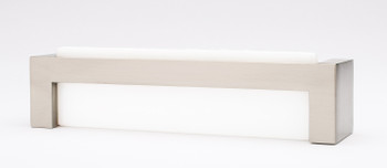 "Sietto, Skyline, 5 3/8"" Straight Pull, White with Satin Nickel Base"