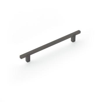 "Schaub and Company, Quadrato, 6 5/16"" (160mm) Bar Pull, Gunmetal"