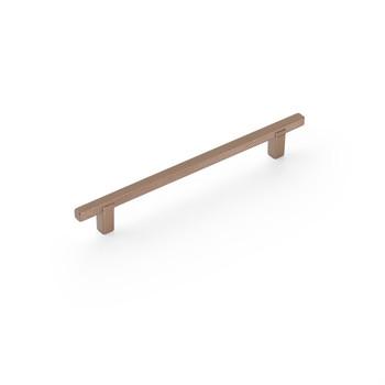 """Schaub and Company, Quadrato, 6 5/16"""" (160mm) Bar Pull, Satin Bronze"""