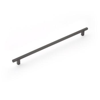 "Schaub and Company, Quadrato, 12 5/8"" (320mm) Bar Pull, Gunmetal"