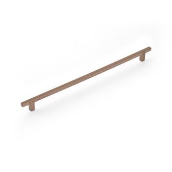 """Schaub and Company, Quadrato, 12 5/8"""" (320mm) Bar Pull, Satin Bronze"""