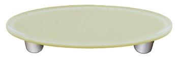 "Aquila Art Glass, Solids, 3"" Oval Straight Pull, Driftwood Gray"