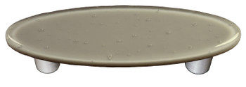 "Aquila Art Glass, Solids, 3"" Oval Straight Pull, Deco Gray"