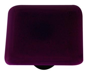 "Aquila Art Glass, Solids, 1 1/2"" Square Knob, Violet Striker"