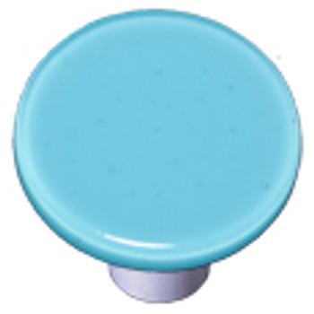 "Aquila Art Glass, Solids, 1 1/2"" Round Knob, Light Cyan"