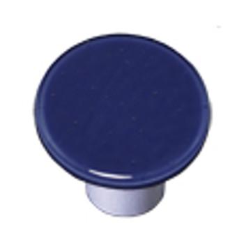 """Aquila Art Glass, Solids, 1 1/2"""" Round Knob, Indigo Blue"""