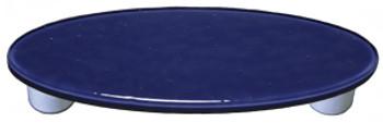 "Aquila Art Glass, Solids, 3"" Oval Straight Pull, Indigo Blue"