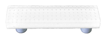 "Aquila Art Glass, Bubbles, 3"" Straight Pull, White"