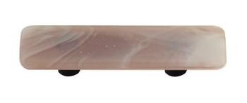 "Aquila Art Glass, Swirls, 3"" Straight Pull, White Swirl on Dusty Lilac"