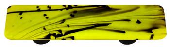 "Aquila Art Glass, Mardi Gras, 3"" Straight Pull, Black and Spring Green"