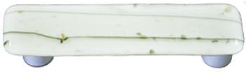 "Aquila Art Glass, Mardi Gras, 3"" Straight Pull, French Vanilla and French Vanilla"