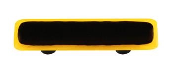 "Aquila Art Glass, Borders, 3"" Straight Pull, Sunflower Yellow Border Black"