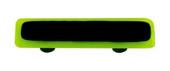 "Aquila Art Glass, Borders, 3"" Straight Pull, Spring Green Border Black"