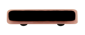"Aquila Art Glass, Borders, 3"" Straight Pull, Dusty Lilac Border Black"