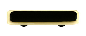 "Aquila Art Glass, Borders, 3"" Straight Pull, French Vanilla Border Black"