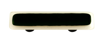 "Aquila Art Glass, Borders, 3"" Straight Pull, White Border Black"