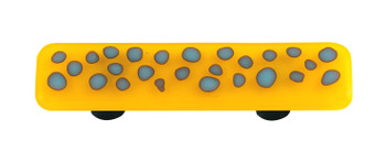 "Aquila Art Glass, Reactive, 3"" Straight Pull, Clear Sunflower Yellow"