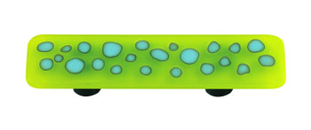 """Aquila Art Glass, Reactive, 3"""" Straight Pull, Clear Spring Green"""