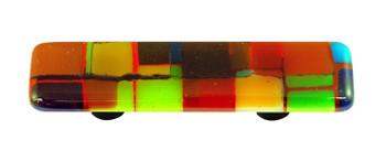 "Aquila Art Glass, Mosaic, 3"" Straight Pull, Multiple Color"