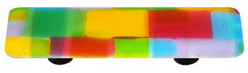 "Aquila Art Glass, Mosaic, 3"" Straight Pull, Spring"