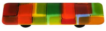 "Aquila Art Glass, Mosaic, 3"" Straight Pull, Summer"