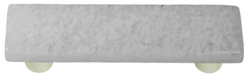 "Aquila Art Glass, Granite, 3"" Straight Pull, Clear and White"