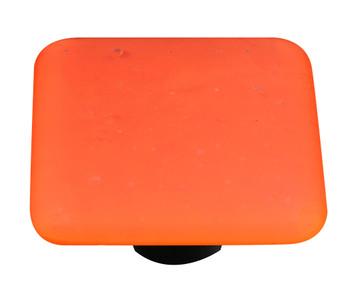 "Aquila Art Glass, Opaline, 1 1/2"" Square Knob, Orange"