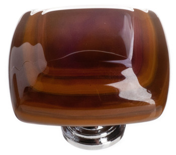 "Sietto, Reflective, Stratum, 1 1/4"" Square Knob, Woodland Brown and Umber Brown"