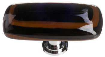 "Sietto, Reflective, Stratum, 2"" Rectangle Knob, Woodland Brown and Black"