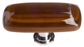 "Sietto, Reflective, Stratum, 2"" Rectangle Knob, Woodland Brown and Umber Brown"