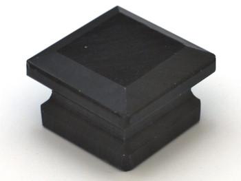 "Cal Crystal, Marble, 1 5/8"" Square Knob, Black Marble"