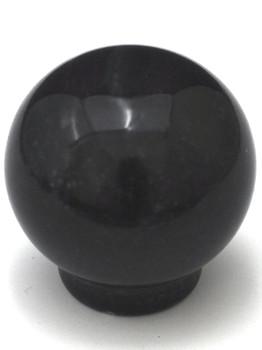 "Cal Crystal, Marble, 1 1/4"" Round Ball Knob, Black Marble"