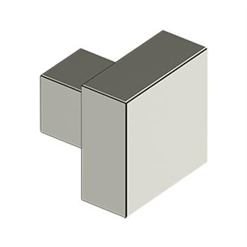 "Deltana, 1 1/4"" Modern Square knob, Polished Nickel"