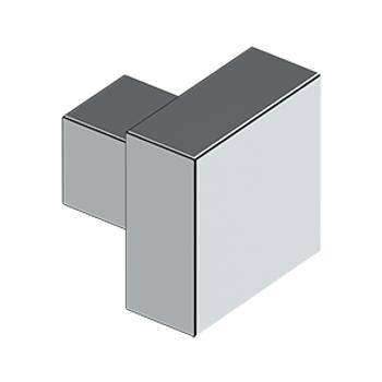 "Deltana, 1 1/4"" Modern Square knob, Polished Chrome"