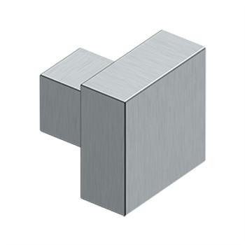 "Deltana, 1 1/4"" Modern Square knob, Brushed Chrome"