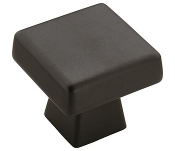 "Amerock, Blackrock, 1 1/2"" (38mm) Square Knob, Black Bronze"