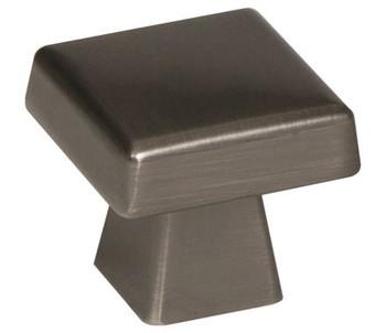 "Amerock, Blackrock, 1 1/2"" (38mm) Square Knob, Gunmetal"